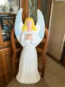 Rare Tpi Christmas Blow Mold Angel Lighted Yard Decoration 30in.