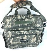 Army National Guard Tactical Camo Backpack Messenger Shoulder Bag Made In Usa