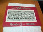 Excellent 1969 Blackandwhite Ohio State Football Team Photo 1 In The Nation 18x9