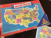Milton Bradley Puzzle-map Of The United States