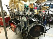 Pearl Crystal Beats 7 Peice Drum Kit 2/ 16x22 Kick Drums Toms Are 810121416