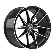 4 Hp1 19 Inch Staggered Black Rims Fits Bmw 135i 2008 - 2014
