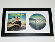 David Gilmour Signed Framed Yes I Have Ghosts Cd Cover W/coa Pink Floyd The Wall