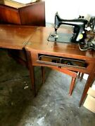 Vintage Singer Electric Sewing Machine With Stool