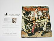 Dave Matthews Band Signed Rolling Stone Magazine Cover Beckett Bas Coa X4 Dmb