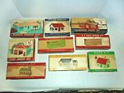 Plasticville Whole Town For Your O Or S Gauge Train Layout With Boxes Vintage