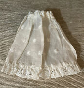 Antique Doll Clothes For French German Bisque Doll Under Garment Slip Skirt