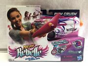 New Nerf Rebelle Pink Crush Blaster With Detachable Crossbow Arm