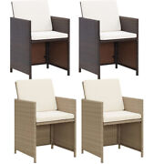 2 Pcs Garden Chairs Outdoor Patio Furniture Bench Poly Rattan Chair Bistro Seat