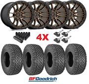 Fuel Rebel 6 Bronze Wheels Rims Tires 265 65 17 Bfgoodrich Ko2 At All Terrain