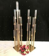 Candle Stand Holders Table Centerpieces Flower Vases Wedding Party Decorations