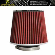 3 Inch Inlet Air Filter Intake Universal Fitment For Car Truck Suv Red Color Jdm