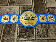 Chargers Los Angeles Champions Wrestling Belt Leather 4mm Plates Replica Adults