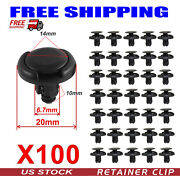 For Toyota 100x Fender Liner Fastener Rivet Push Clips Retainer Fit 7mm Hole Dia