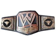 Wrestling Championship Belt Leather Thick Metal Plates Replica Adults Sports