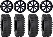 System 3 St-4 20 Wheels Blue 35 Xt400 Tires Rzr Turbo S/rs1
