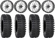 System 3 St-3 Machined 20 Wheels 35 Xt400 Tires Rzr Turbo S/rs1