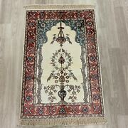 Yilong 2and039x3and039 Vase Flower Handmade Silk Area Rug Home Indoor Tapestry 415m