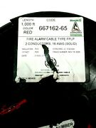 Fire Alarm Cable Type Fplp 2 Conductors 16awg Solid 667162-65 1000ft