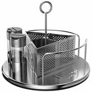 Rotating Organizer Caddy For Utensils, Sauces, Condiments, Napkins,salt And Pepper
