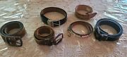Lot Of 6 Varied Leather Western Mexico Belts Levi