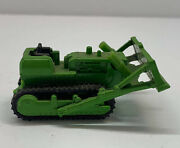 Yatming Bulldozer With Rubber Tracks Diecast Green