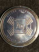 1 Oz 999 Fine Copper Dark Antique Coin And039safety In Numbersand039 2 Silver And Shells