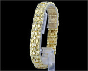 14kt Solid Yellow Gold Nugget Bracelet 17 Mm 43 Grams 8.25 - Old School - 1/2