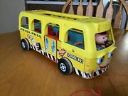 Vintage Fisher Price Little People Safety School Bus 990 1962 Bus Only