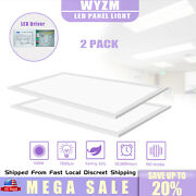 24and039and039x48and039and039 Led Panel Light 2x4ft Flat Recessed Ceiling Light Suspended 2-20pack