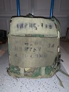 Rare Medium Alice Radio Backpack With Full Back Pad And Lc-2 Straps Woodland Camo