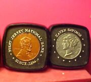 Plastic Mercury Dime And Lincoln Penny Souvenir Collectible Coin Coasters