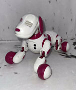 Zoomer Spin Master Pink And White Spotted Dog Tested
