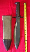 Original U.s. 1912 Dated Springfield Armory Sa- Stamped Bolo Knife And Scabbard