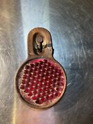 Vintage Do Ray Cataphote 260 Red Glass Reflector License Plate Topper Original
