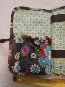 Thirty One Quilted Brown Poppy Zip Soft Wallet