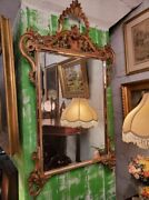 Large Gold Carved Gilded Wall Mirror - Hand Carved - High End Beautiful Mirror