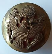 Vintage Wwii Brass Us Military Army Hat Pin Badge W/ Eagle E Pluribus Unum