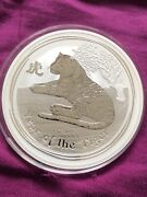 2010 Australia Lunar Tiger 10oz Silver Coin Capsule With Marks Only
