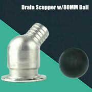 Boat Deck Drain Scupper Marine Stainless Floor Drain Mirror Polished Surface