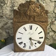 French Comtoise Tall Clock Morbier 1800s Grandfather Brass Pendulum France