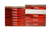 Proof Set Silver 1999 - 2010 12 Complete Sets - 141 Coins Us Mint Run Lot