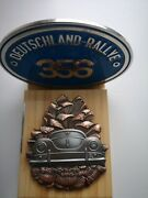 Gift Set 2x German Member Rally Grill Badges Compatible With Porsche 356 A B C