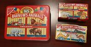 Vintage Animal Crackers Tin + 2 Unopened Boxes With Vintage Cage Design