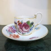 Meissen 1 Coffee Cup With Swan Handle And Saucer Us 350.29