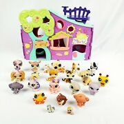 Littlest Pet Shop Pets Only Club House Lps Play Set Purple 20 Pets And Accessories