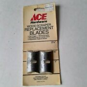 Vintage Set Of 2 10313 Ace Hardware Wood Scraper Replacement Blades 1 3/4