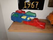Antique Marx Toy Car Hauler Toy Truck With Plastic Cars
