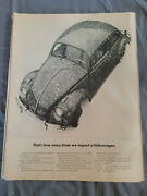 Vintage 1963 Original Magazine Ad Vw Is Volkswagen How Many Times We Inspect
