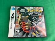 Pokemon Platinum Version Authentic - Complete With Case And Manuals - Nintendo Ds